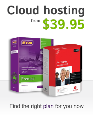 MYOB, QuickBooks & ReckonAccounts hosting plans